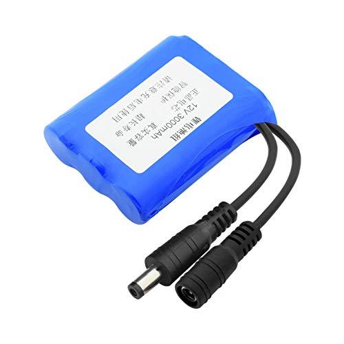 ndegdgswg 12 V 3000/6000/9000mAh Li-ion 18650 batería con conector XH 2.54 mm/DC 5.5 x 2.1 mm para aspiradora luz LED 3000 mAhDC5.5 x 2.1 mm