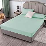 SIGOODS Bedding Fitted Sheet, 1800 Thread Count Microfiber Bed Fitted Sheet, 16 Inch Deep Pocket Bed Sheets, Comfortable Breathable Wrinkle Resistant Sheet,Easy-Care Queen Fitted Sheet