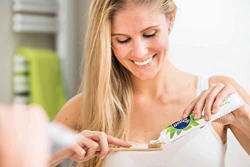 pandoo 4er-Sparset umweltfreundliche Hand-Zahnbürste | Für Erwachsene und Kinder (Mittel bis Weich) | Vegan, Bio, Holzfrei, BPA Frei | Bamboo Toothbrush - 4