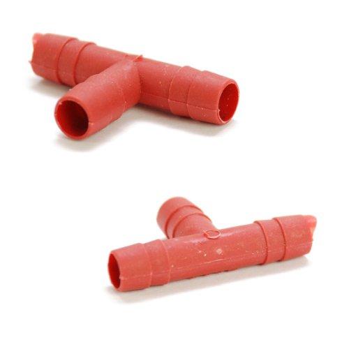 niceeshop(TM) Maus Nippel Wasser Tränken für Kaninchen(Set von 5 Stücke,Rot und Silbern) - 3