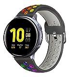 Syxinn Compatible con 20mm Correa de Reloj Galaxy Watch Active/Active 2 40mm 44mm/Galaxy Watch 3 41mm/Galaxy Watch 42mm Banda 20mm Silicona Pulsera para Gear Sport/Gear S2 Classic(SM-R732/SM-R735)