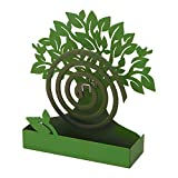 Porta Zampirone in Metallo Albero Verde. Portazampirone da Interno o da Esterno 17X5X17.5cm