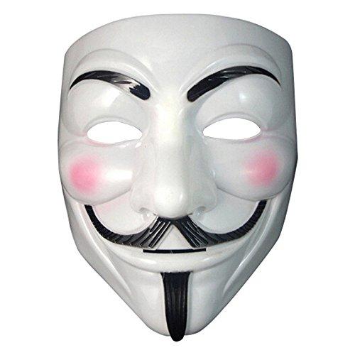 HOUSE CLOUD Maschera con Eyeliner narice Anonymous Guy Fawkes Fancy Adult Costume Accessori Halloween Maschera V per Vendetta