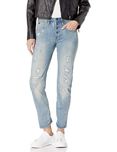G-STAR RAW Damen Jeanshose New Arc 3D Btn Low Boyfriend Wmn, Lt Aged Restored 103 7257, W27L32