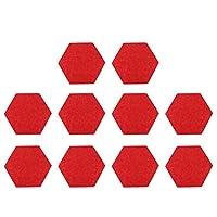 EXCEART フェルトボード フェルト掲示板 コルク掲示板 フェルトウォールステッカー 写真陳列板 描画ピン 伝言板 写真壁 案内板 メモボード 12ピース 35 x 30cm フェルト装飾(赤)