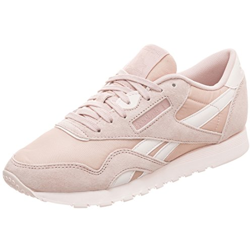 Reebok Damen Classic Leather Nylon Fitnessschuhe, Mehrfarbig (Seasonal/Bare Beige/Pale Pink 000), 40.5 EU