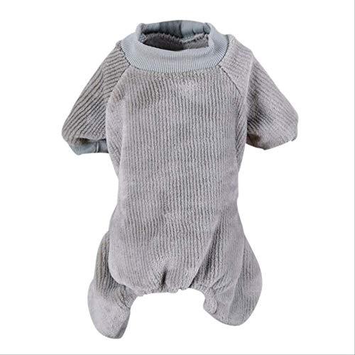 XYBB Hunde Kostüm Haustier Casual Home Wear Kleidung 4-beinige Einfarbige Pyjamas Warme Kleidung Hund Flanell Jumpsuit M H