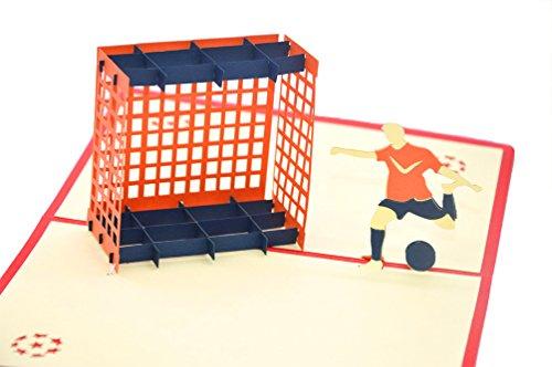 medigy 3D Pop up Grußkarte Congratulations für Fußball Lover 's Geschenke