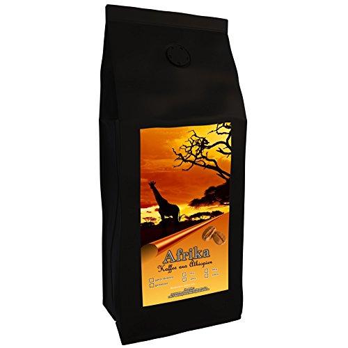 Kaffeespezialität Aus Afrika - Äthiopien - Kaffee Aus Dem Urspungsland Des Kaffee (Ganze Bohne,1000 Gramm) - Länderkaffee - Spitzenkaffee - Säurearm - Schonend Und Frisch Geröstet