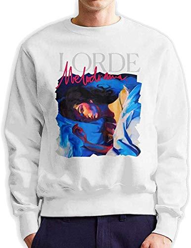 Men's Lorde Melodrama Fashionable Casual Style Crew Neck Cotton Sweatshirt Hoodie,White,XXX-Large