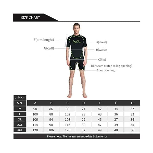 LayaTone Shorty Wetsuit 3mm Neoprene Suit Adults Scuba Diving Swimming Kayaking Canoeing Suit Men Women Surfing Suit One Piece Swimsuit Wet Suit Men Women