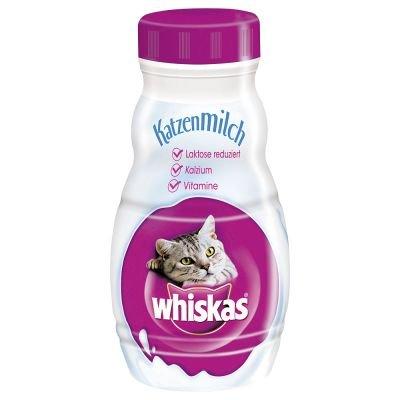 whiskas Cat Milk 6 x 200 ml Milky Treats, 2 x 55g MIX PACK and free toy