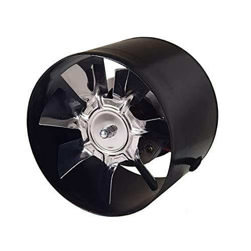 AZITICY Ventilador extractor de tubo de metal 100 mm para entrada o salida de aire en interiores, 140 m³/h (negro, estándar/100 mm)