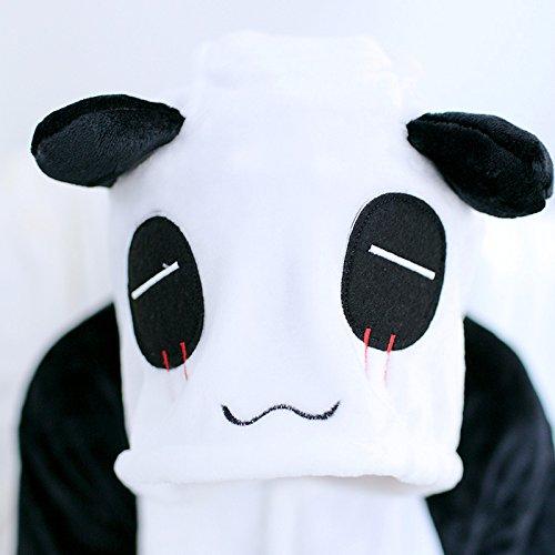 Katara 1744 – Panda Kostüm-Anzug Onesie/Jumpsuit Einteiler Body für Erwachsene Damen Herren als Pyjama oder Schlafanzug Unisex – viele verschiedene Tiere - 5