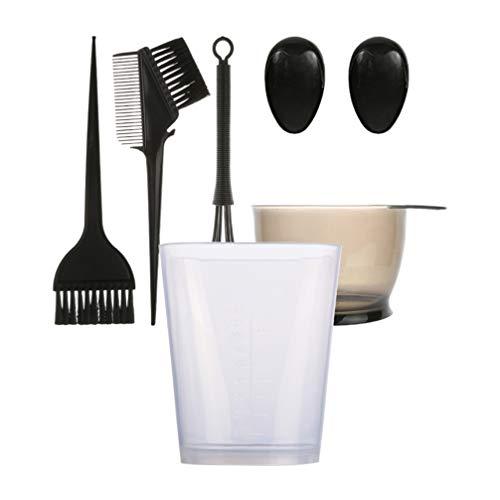 Beaupretty 1 Set 6St Haarverf Kom Verfborstel Kam Set Perm Cup Professionele Salon Haarkleuring Verven Kit Haarkleuring Tools Haarkleuring Set