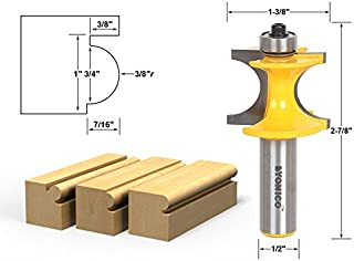 Yonico 13195 3/4-Inch Bead Bullnose Bead Router Bit 1/2-Inch Shank