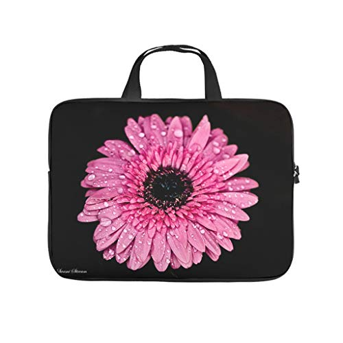 Pink Daisy Beautiful Flower Double Sided Printed Laptop Bag Protective Case Waterproof Neoprene Laptop Sleeve Bag Customized Notebook Bag Sleeve Case for Friends Family