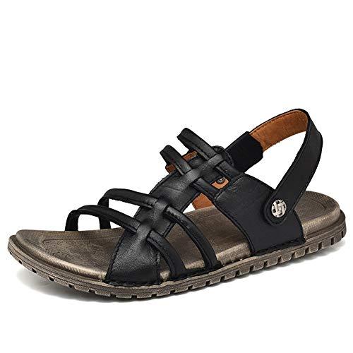 Männer Gladiator Sandalen Flip Flops Leder Keine Slip Flat Peep Toe Wasserschuhe Frauen Sommerweg-resistente Sandal Slippers