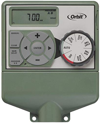 Orbit 2 Pack 6 Station Easy Dial Sprinkler Timer with Smart Budgeting - Irrigation Controller - Automatic Lawn Watering