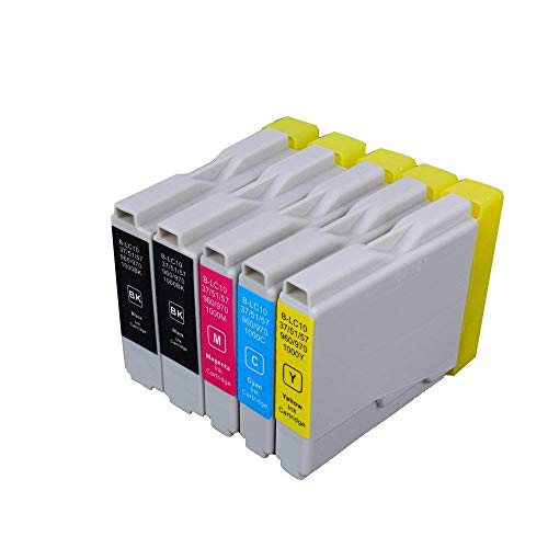 5 Patronen für Brother LC 1000, mfc230 C/240 C/260 C/440 CN/DCP 660 CN, Mfc 130 C/DCP 135 C/150/330 C (kein Original)