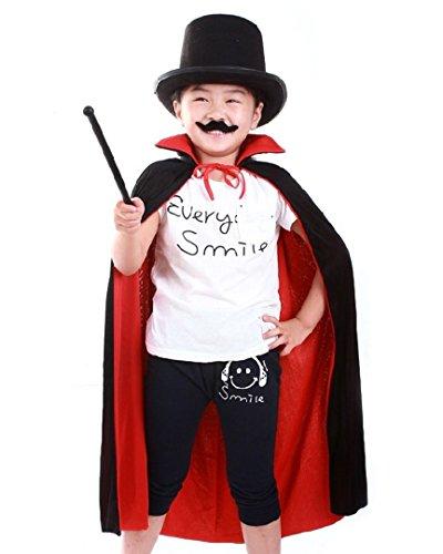 ABBY Enfants Cape de Halloween sans Costume de jeu de rôle à capuchon Costume de Cosplay pour Play école habiller Noir et rouge