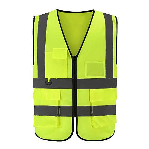AYKRM Giacche e gilet alta visibilit/à moto giallo, M
