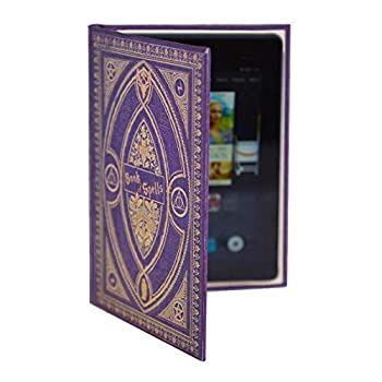 Harry Potter Inspired Book of Spells Case for Kindle Fire and 7 Inch Tablet  Purple Spells