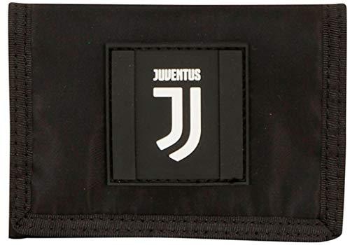 F.C. Juventus portemonnee met klittenband Black And Withe Grootte 12 x 9.5 cm