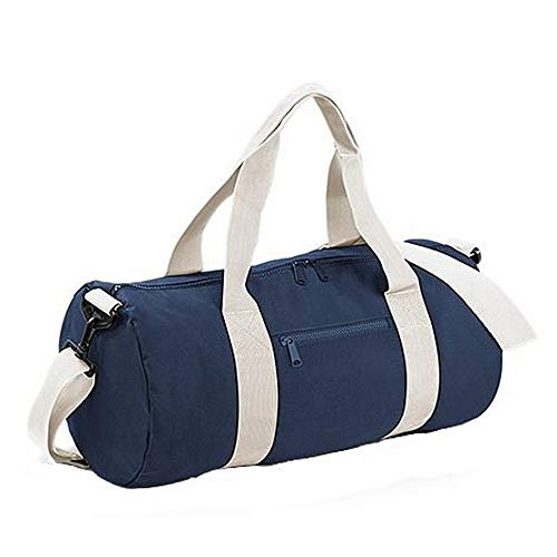 BagBase fassförmige Tasche für Uni, Schule und Sport mit gewebten Griffen, 6 Farben, French Navy/Off White (Blau) - UTBC2526_5