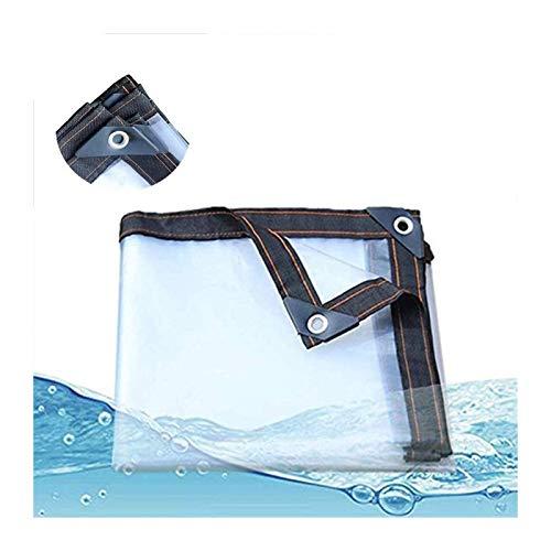 Glass Clear Tarpaulin Waterproof Clear Tarpaulin Sheet Heavy Duty Dustproof Rainproof Strengthen Windproof Cover With Eyelets Bungees Ball Cord Oil Proof Anti-Aging Tarpaulin