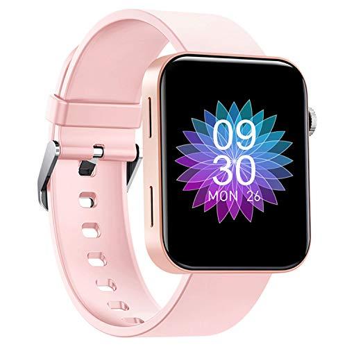 Smartwatch 1.54-Zoll Sportuhr - HAOQIN Fitness Tracker für Damen Herren Kinder mit IPS-Touchscreen Herzfrequenz und Schlaftracking Wasserdicht Kompatibel mit Android IOS (Rosa)