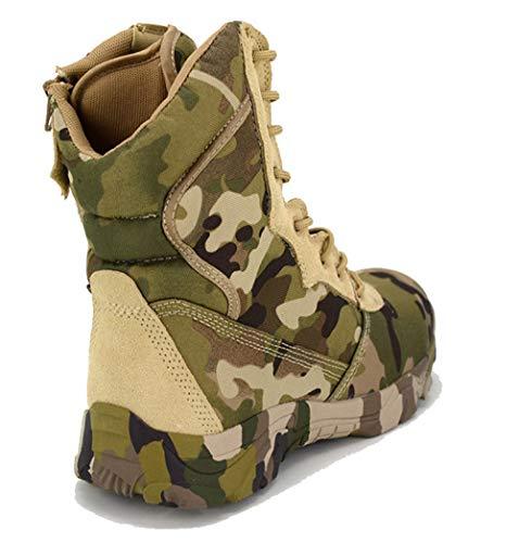 QIKAI Taktische Stiefel Wasserdicht Magnum-Tarnanzug Mit Hohen Taktischen Kampfstiefeln Wüstenstiefel Für Outdoor-Klettern,Camouflage-44