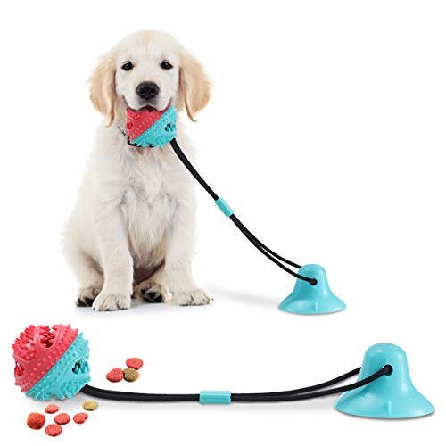 CAMTOA Dog Chew Toys for Aggressive Chewers, Suction Cup Dog Chewing Toy, Dog Rope Ball Toys with Suction Cup for Small Large Dogs, Puppy Dog Teeth Cleaning Interactive Pet Toy for Boredom