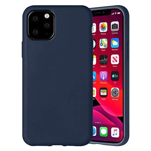 Yoedge Color Sólido Funda para Xiaomi Mi A2 Lite/Xiaomi Redmi 6 Pro 5.84″ Sencillez Carcasa de Silicona Case Protectora de TPU Suave Protección Cover para Xiaomi A2 Lite Teléfono Fundas,Azul Oscuro