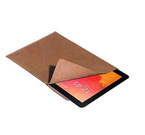 PEDEA Echtleder Tasche/Hülle für Samsung Galaxy Note Pro 12.2, Odys Winpad 12, tobacco