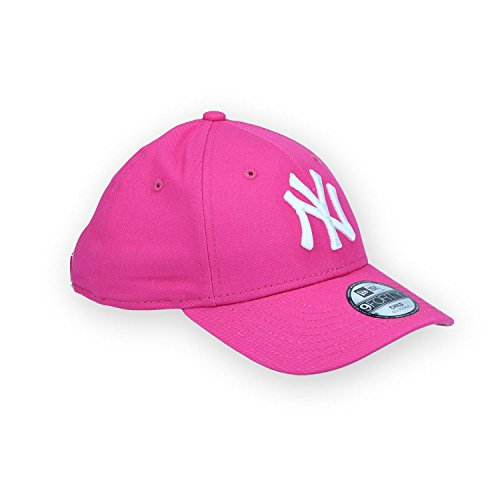 New Era Mädchen Baseball Cap Mütze MLB Basic 9 Forty Adjustable, Hot Pink/White, One Size, 10877284