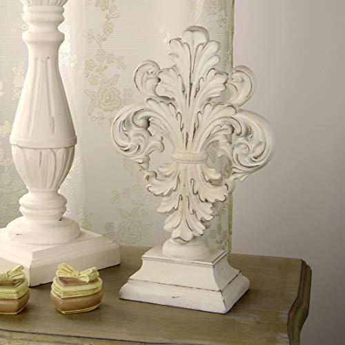 Decoración Pedestal, Friso Decorativo, Adorno para la Hogar Vintage Rústico Shabby Chic - Vintage - 19x31 - Marfil Antiguo - Poli resina