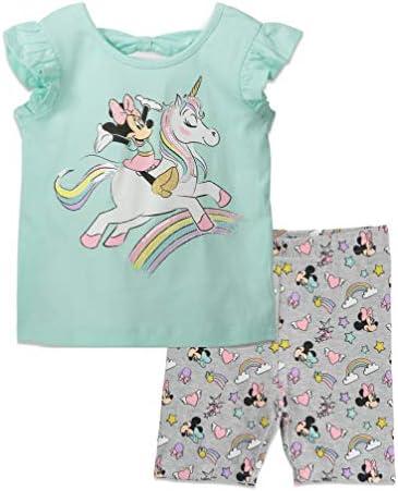 Disney Minnie Mouse Toddler Unicorn Rainbow T Shirt and Bike Shorts Set 4T product image