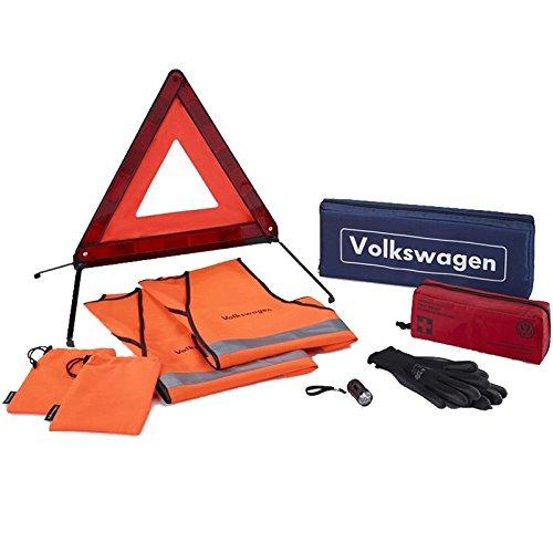 Volkswagen Original Paquete de Seguridad antipinchazos Ayuda Seguridad Primeros Auxilios–Set de reparación de pinchazos (000093059M