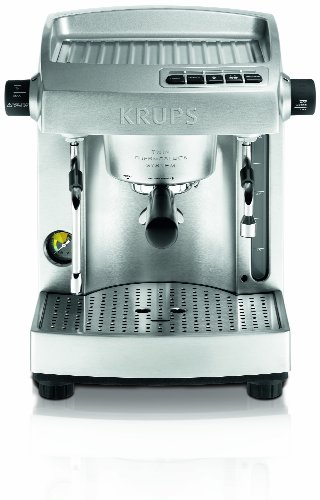 Krups XP618050 Full Stainless Steel Twin Thermoblock Espresso Machine, Die Cast