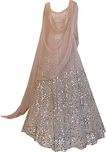REKHA Readymade Lehenga Designer Heavy Lehenga Choli Party Wear Lehenga Choli Latest Wedding Lehenga Choli Q 208 Peach