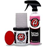 Adam's Visco Professional Detailing Clay Bar - Safely Remove Contamination from All of Your Exterior Surfaces (Combo Kit)