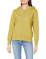 [チャンピオン] パーカー UVカット ワンポイントロゴ ジップフーデッドスウェットシャツ CW-T109 レディース