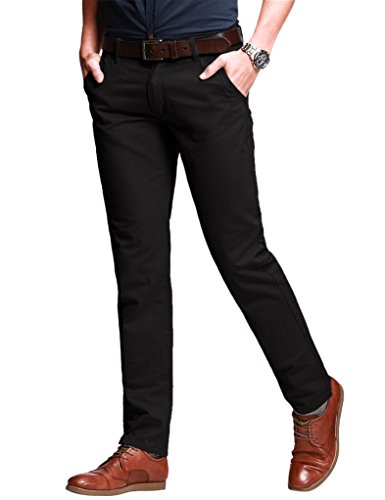 Match Men's Slim Fit Tapered Stretchy Casual Pants (32W x 31L, 8050 Coffee#5)