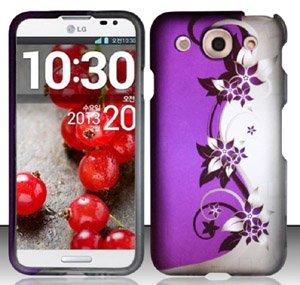LG Optimus G Pro E980 (AT&T) Purple/Silver Vines...