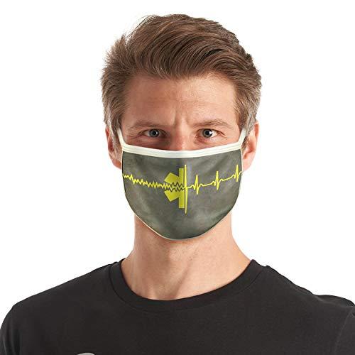 FIRE & FIGHT Streetwear Design-Mund-Nasen-Maske Rettungsdienst Textil-Accessoire Farbe gelb