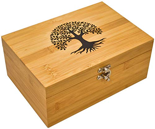 OIL LOVE Bamboo Essential Oils Storage Box - Holds 24 Oils (5mL -...