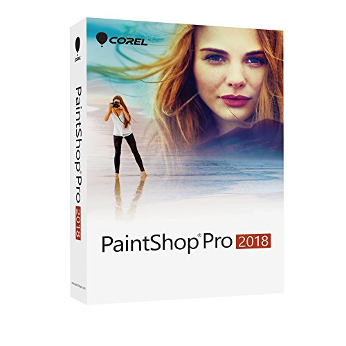 Corel PaintShop Pro 2018 - Software de gráficos (Plurilingüe, 1 licencia(s), Caja, Windows 10,Windows 10 Education,Windows 10 Education x64,Windows 10 Enterprise,Windows 10..., Win, 1000 MB)