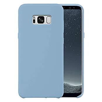 Liquid Silicone Phone Case for Samsung Galaxy S8 G950 G950U 5.8 /Shockproof/Gel Rubber/Cover Case Drop Protection Light Blue