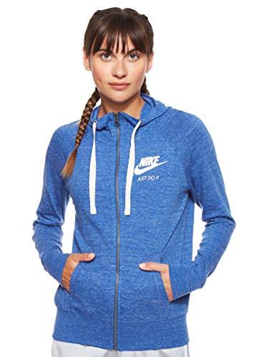 Nike Damen Sportswear Gym Vintage Hoodie Full-Zip, Indigo Force/Sail, M